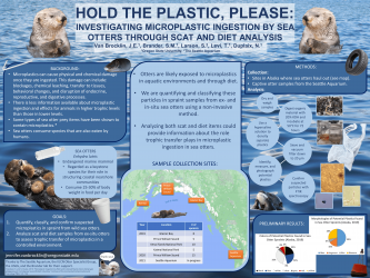 Poster 3 - Investigating microplastic exposure to ex- and in-situ Sea Otters using spraint and diet analysis